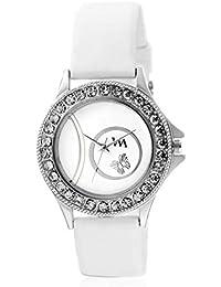 Watch Me White Dial White Silicon Strap Watch For Girls WMAL-240 WMAL-240omtbg