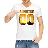 Catch T-Shirts - 00 Sunrise Numbers Collection Men's Classic V-Neck T-Shirt