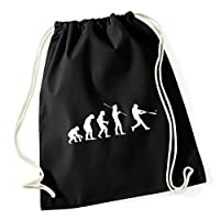 HippoWarehouse Baseball evolution Drawstring Cotton School Gym Kid Bag Sack 37cm x 46cm, 12 litres