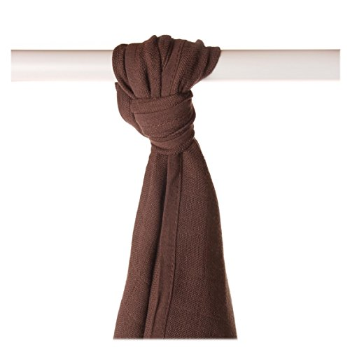 XKKO bmb09 0022 a Couche Serviettes à langer Bambou, allaiter, comme tapis ou couverture légère, couches 90 x 100 cm, marron