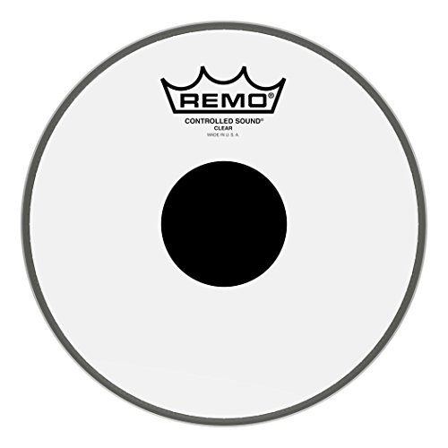 Remo Controlled Sound Clear Black DotTM Drumfell Controlled Sound Clear, schwarzer Tupfen, Tom 8