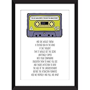 The Last Shadow Puppets The Age of the Understatement Lyrics Unframed Print / Ungerahmter Druck