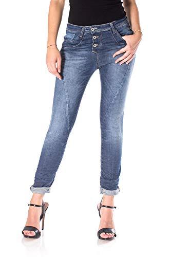 PLEASE Baggy Jeans für Damen X-groß Blauer Jeansstoff)