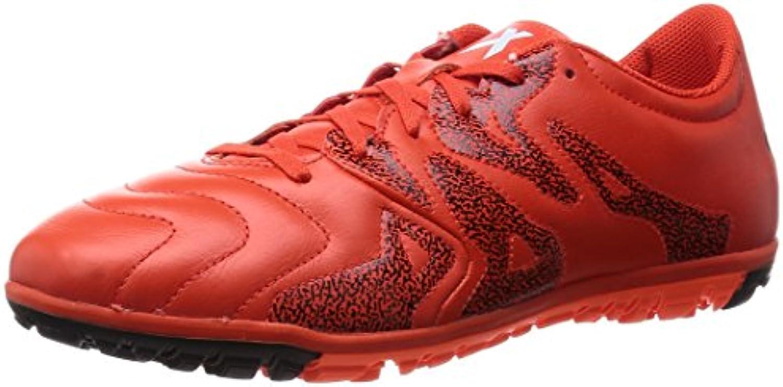 adidas X 15.3 TF Leather - Botas para hombre, Naranja/Negro, 40 EU
