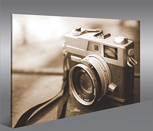Cuadro en Lienzo Alte Kamera Sepia Fotoapparat wie Leica Vintage 35mm