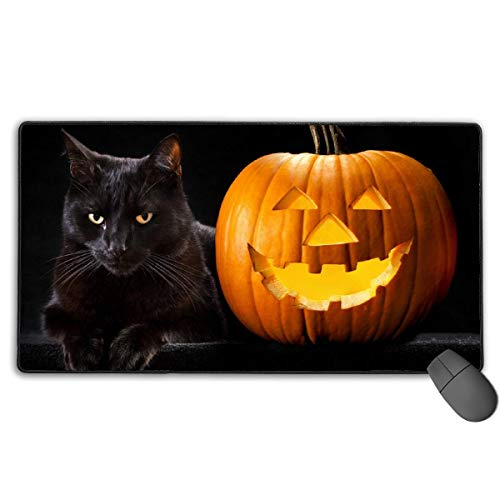 Mauspad Erweiterte Mat fghj Happy Halloween Cat Large Gaming Mouse Pad Extended Mat Non-Slip Rubber Desk Pad Computer Keyboard Mat
