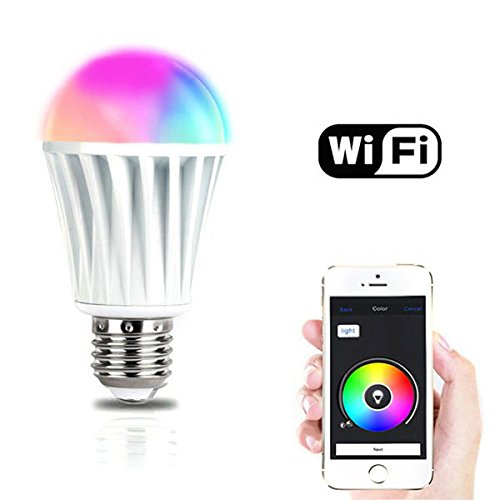 Smart Wireless Lighting (ILS - Magic Home E27 7W RGBW Wireless WiFi Timing Smart LED Lighting Bulb for Smartphone Control AC220V)