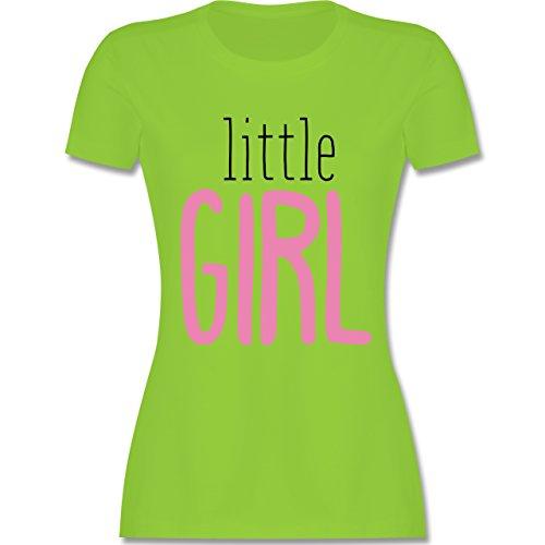Schwangerschaft - Little Girl - tailliertes Premium T-Shirt mit Rundhalsausschnitt für Damen Hellgrün