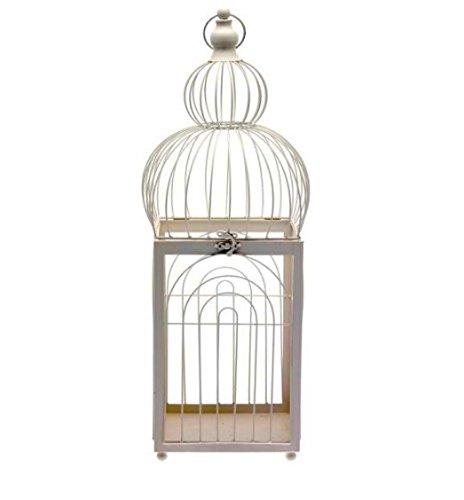 Simple decorativo jaula de pájaros–en color crema–Ecos Oriental diseños–crearía una elegante mesa Centrepiece