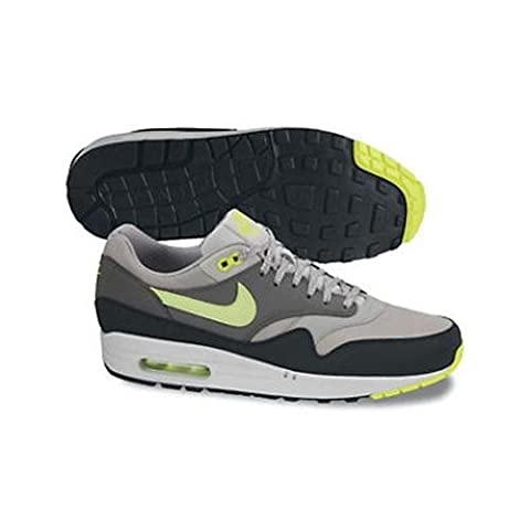 Nike Men's Nike Air Max 1 Essential, Yellow-Grey Low-Top Sneakers Grey Size: 8