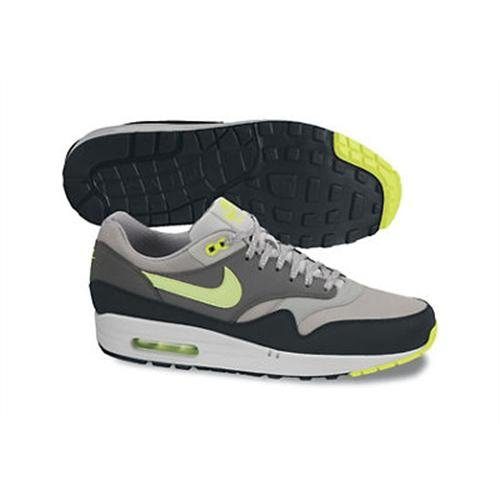 Nike - Nike Air Max 1 Premium, Green, Sneakers a collo basso da uomo (dusty grey volt cool grey black)