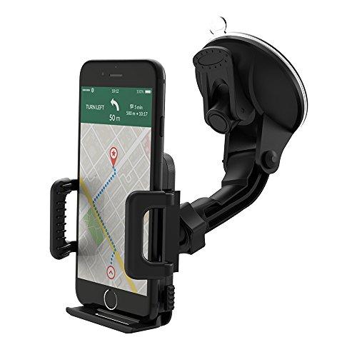 Support téléphone voiture universel TaoTronics pour tableau de bord et pare brise compatible avec les smartphones en largeur de 50-100mm