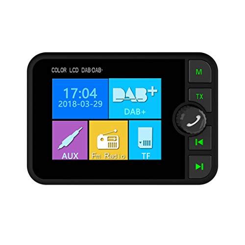 heacker 2,4-Zoll-TFT-Bildschirm Bluetooth Auto-MP3-DAB DAB + Radio FM-Empfänger-Adapter Slide-TF-Karte MP3-Player aufrufen Antwort -