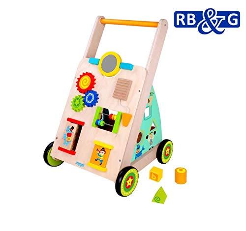 RB&G Lauflernwagen aus Holz mit Gummibereifung / für vielseitigem Spielspaß für Kinder