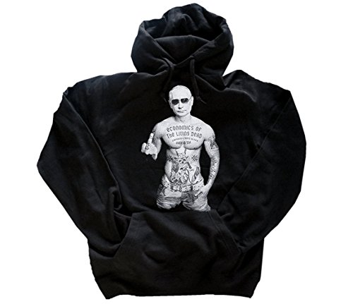 Shirtzshop Wladimir Putin Zombie Capitalism Kapuzen-Sweat-Shirt Schwarz ()