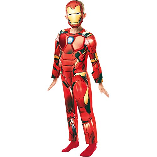 (Rubie 's 640830l Offizielles Marvel Avengers Iron Man Deluxe Kind costume-large Alter 7–8, Höhe 128 cm, Jungen, one size)