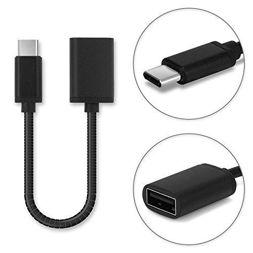 Cavo USB OTG Compatibile con Huawei P30, 20, 10 / Nova 3 / Honor 20, 9 / Plus/Lite/Mate 9 (USB A 2.0 - USB Type C) - Adattatore OTG (Cavo Host USB C (Type C), 8cm)