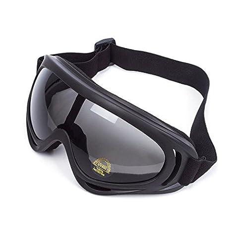 Lunettes de Protection Masque de Visage Incassable Anti-UV Coupe-Vent Anti-Poussière