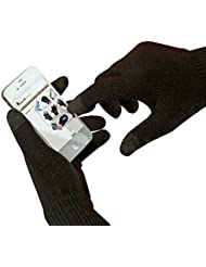 Gants d'écran tactile noir pour iPhone, iPad et tous les produits Apple. (Petit/Moyen)