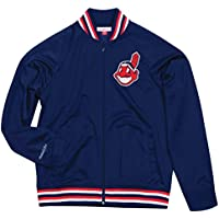 """Cleveland Indians Mitchell & Ness MLB Men's """"Top Prospect"""" Full Zip Track Jacket"""