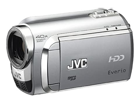 JVC GZ-MG630 SEU Hybrid-Camcorder (HDD & microSD, 60 GB Festplatte, 35-fach opt. Zoom, 6,9 cm (2,7 Zoll) Display) diamant-silber