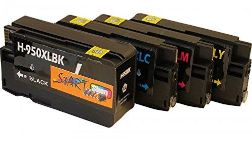Preisvergleich Produktbild Start - 4 Ersatz Chip Druckerpatronen kompatibel zu HP 953XL Schwarz / HP953 XL Farben für HP OfficeJet Pro 7740WF, 8200 Series, 8710, 8715, 8720 Series, 8730, 8740