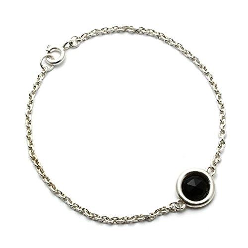 Mystic Silver - Bracciale Braccialetto Donna argento sterling 925 con naturele Onice Nero - Lunghezza: 17cm, 3