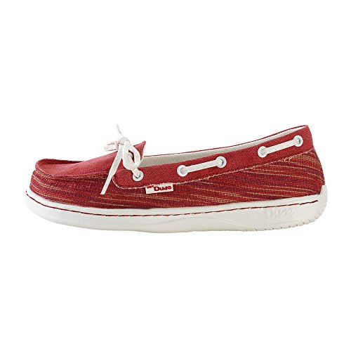 Dude Shoes Womens Moka Tex Woven Rosso red