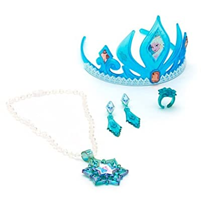 Disney Frozen Elsa Tiara Y Joyería Set de Jakks