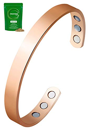 Magnetic Copper Therapy Armband mit sechs extra starken Magneten - hilft, Schmerzen von Arthritis, Karpaltunnel und Migräne zu lindern. Natürliche Menopause-Unterstützung - Universalgröße