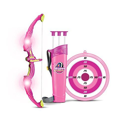 SainSmart Jr. Bogen Set Kinder Bogenschießen Schießspiele mit 3 Pfeilen, Geschenk für Mädchen ab 6 Jahre,Pink