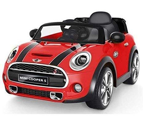 Auto elettrica 12V per bambini Mini Cooper COLORE ROSSO con radiocomando parentale, luci e suoni, mp3