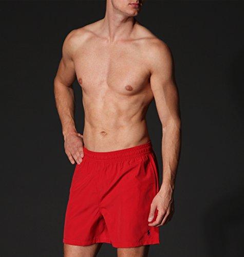 POLO Ralph Lauren Herren Badeshorts Hawaiian Boxer, rot, Gr. XXL (Lauren Boxer-shorts Ralph)