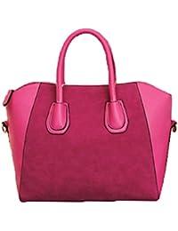 F9Q cuir PU femmes Retro élégant sac à main bandoulière Satchel givré Mode Sacs