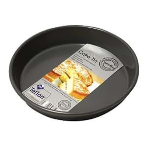 Prochef - Tortiera rotonda rivestita in silicone, diametro 20cm, qualità premium Teflon Innovations