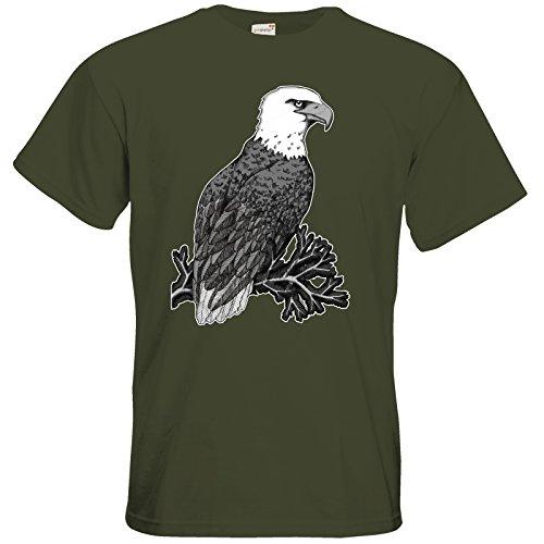 getshirts - Lexvandis - T-Shirt - Adler Khaki