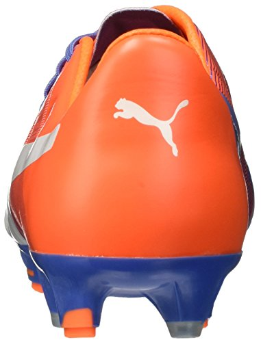 evoPOWER 1.3 FG - Crampons de Foot - Bleu/Blanc/Orange Blue Yonder/Puma White/Shocking Orange