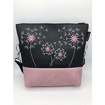 Handtasche Pusteblumen in zart Rose Schultertasche/Umhängetasche *bestickt