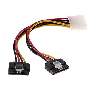 juler 15Cm Molex to Dual Sata Power Adapter Cable 4 Pin 15 Pin Hdd Hard Drive Advanced Range