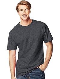 Hanes - T-shirt - Manches Courtes - Homme Gris Gris anthracite chiné