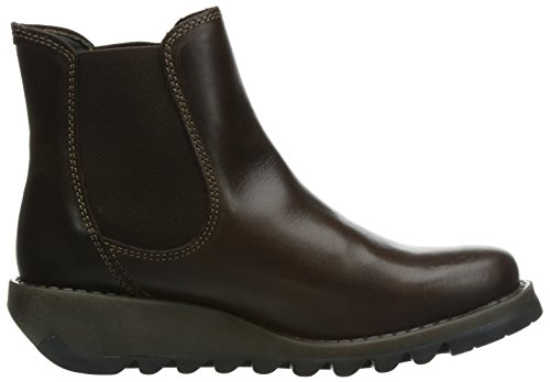 FLY London Salv, Bottes Chelsea femme Marron (Dark Brown 001)