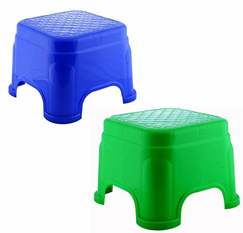 Novicz 2 Piece Plastic Bathroom Stool (COMBO-ESQUIRE-STOOL-833-2PCS)