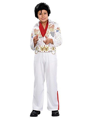 Elvis Kostüm, Kids Deluxe Outfit, groß, Alter 8–10Jahre, Höhe 4'20,3cm–5' 0cm (Elvis Kid Kostüme)