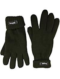 Men's Extra Warm Thermal Gloves 40g Thinsulate Lining Black Or Grey M/L Or L/XL
