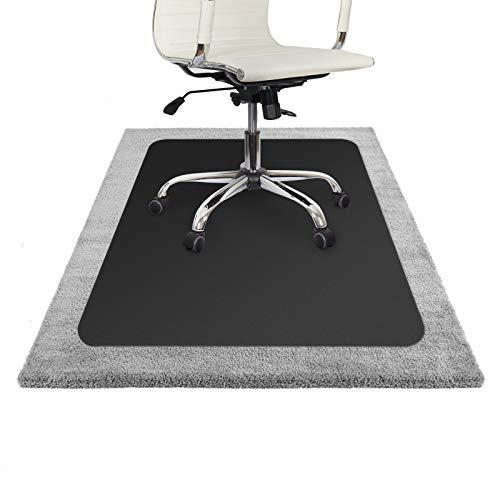Floordirekt ECO Bodenschutzmatte - 90x120cm - für Teppich - schwarz - Schwarz Akzent Teppich