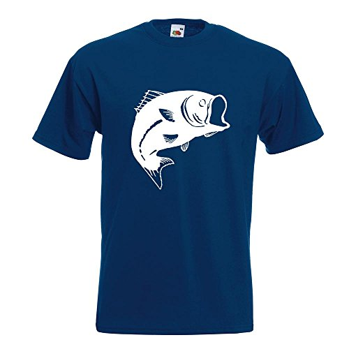 KIWISTAR - Fisch Lachs Karpfen T-Shirt in 15 verschiedenen Farben - Herren Funshirt bedruckt Design Sprüche Spruch Motive Oberteil Baumwolle Print Größe S M L XL XXL Navy