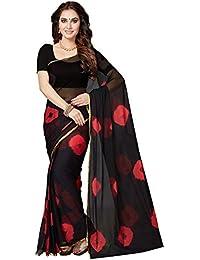 Ishin Chiffon Black Party Wear Wedding Wear Casual Daily Wear Festive Wear Bollywood New Collection Printed Latest...