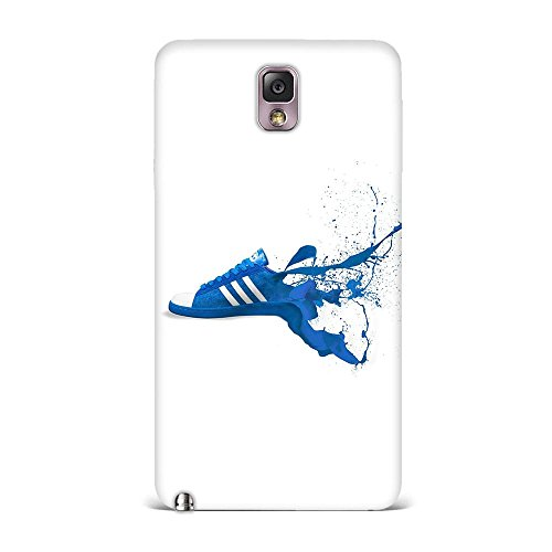 Samsung Note 3 Case, Samsung Note 3 Hard Protective SLIM Printed Cover [Shock Resistant Hard Back Cover Case] for Samsung Note 3 - Adidas Blue Shoes Sneakers Logo Art  available at amazon for Rs.299