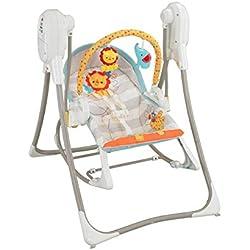 Fisher-Price Balancelle évolutive 3-en-1 transat bébé avec vibrations appaisantes et siège à bascule jeune enfant, chansons et sons, jusqu'à 18 kg, BFH07