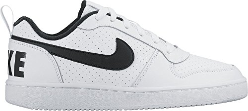 Nike Jungen Court Borough Low (GS) Sneaker, Elfenbein (White/Black), 37.5 EU